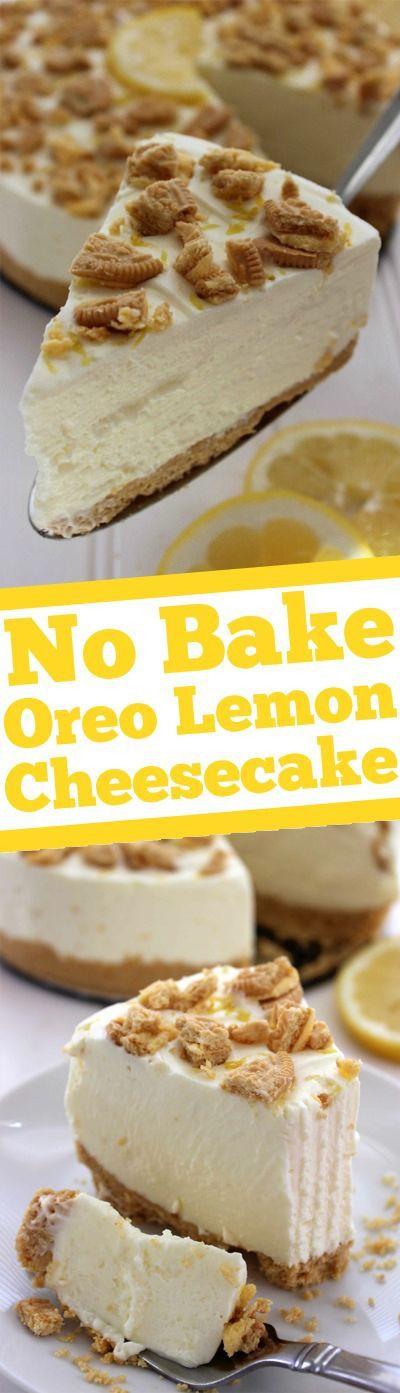 Spring Cheesecake No Bake No Bake Oreo Lemon Cheesecake Recipe