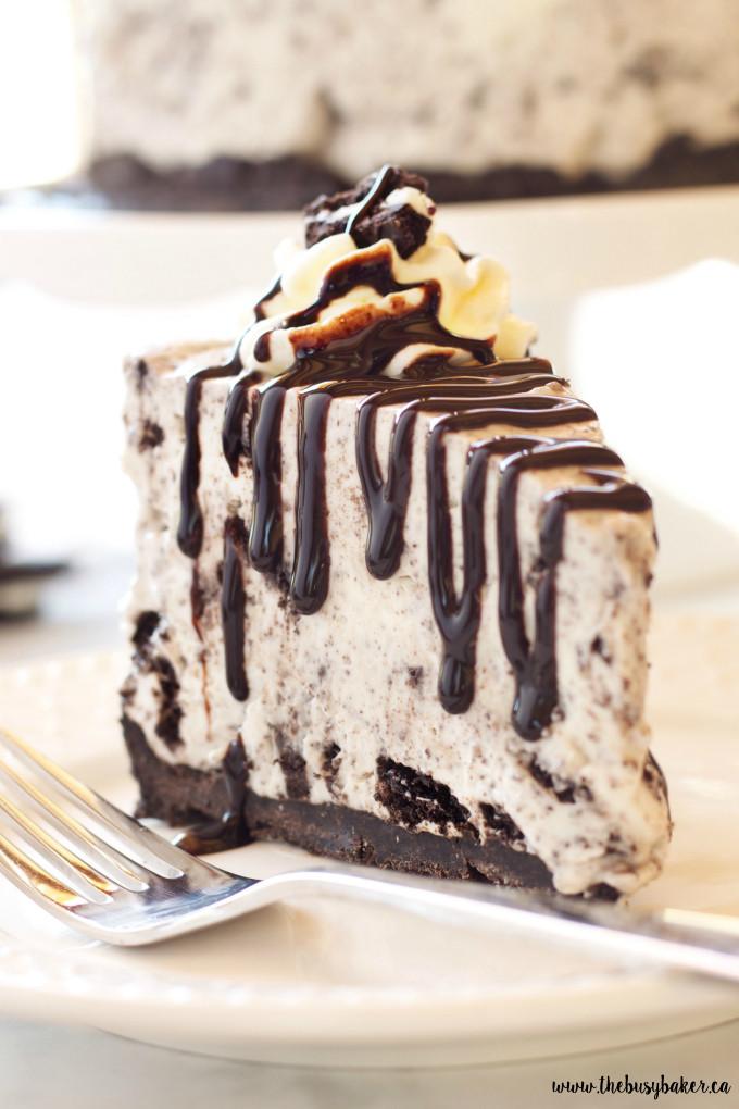 Spring Cheesecake No Bake Easy No Bake Oreo Cheesecake The Busy Baker