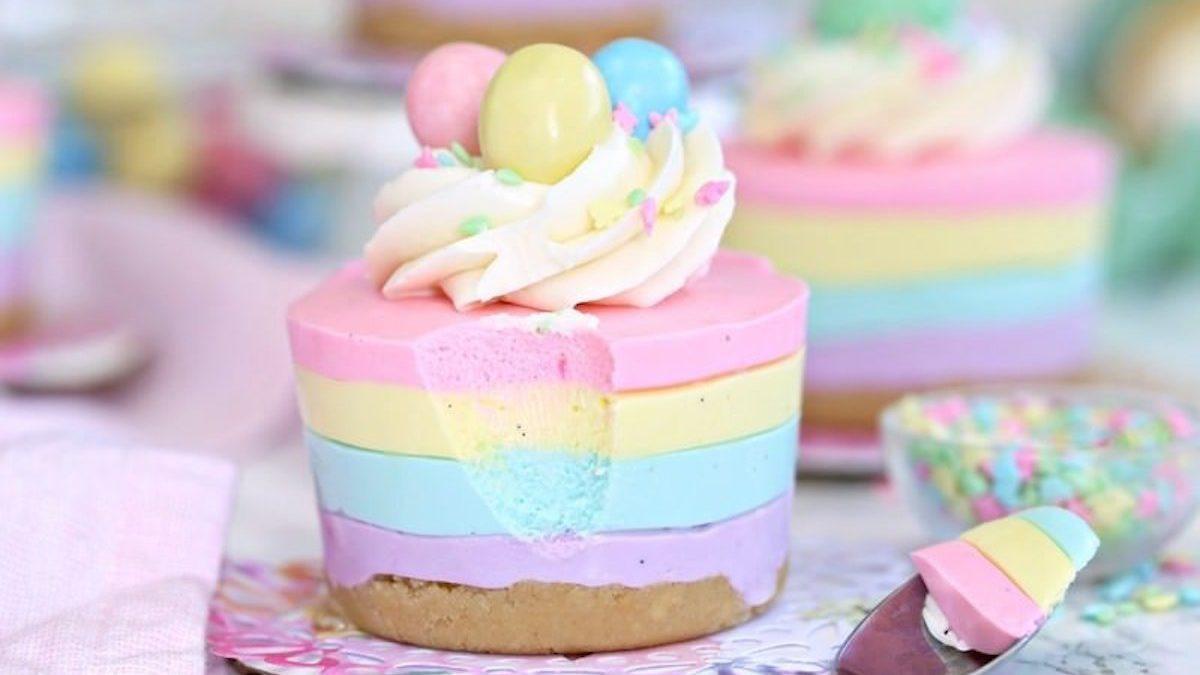 Spring Cheesecake No Bake Easter No Bake Mini Cheesecakes Are Pastel Desserts