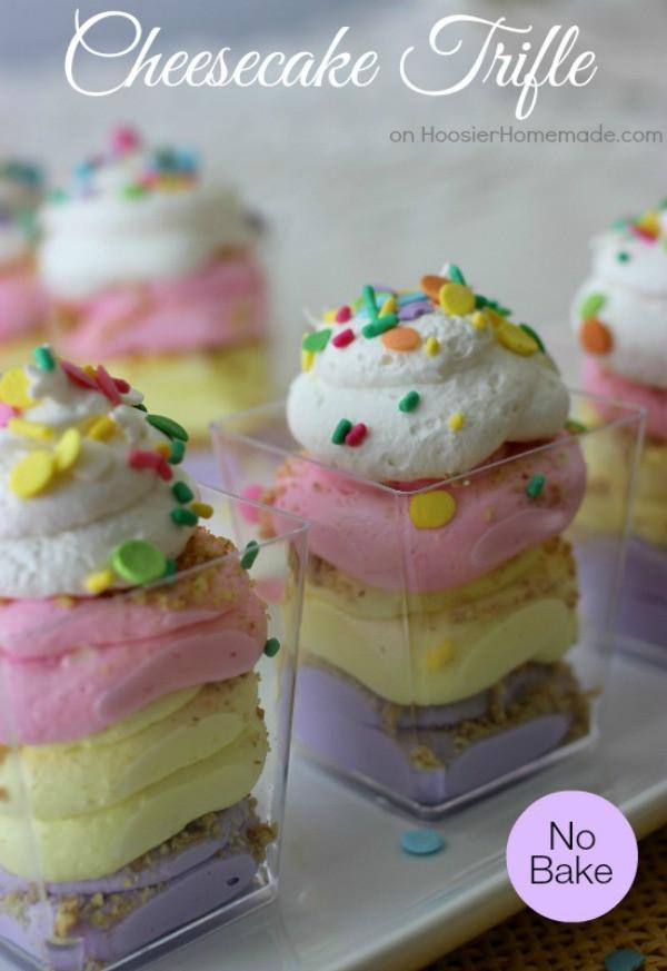 Spring Cheesecake No Bake No Bake Cheesecake Trifle Spring Inspiration Hoosier