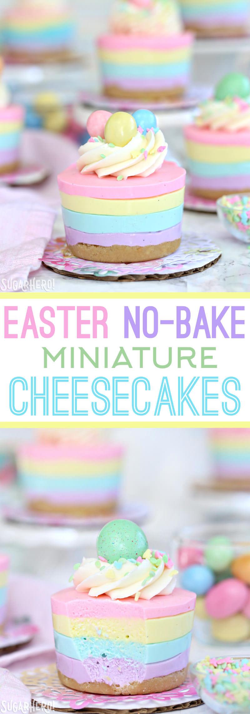 Spring Cheesecake No Bake Easter No Bake Mini Cheesecakes SugarHero